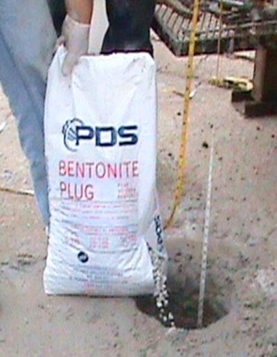 Bentonite Plug in use