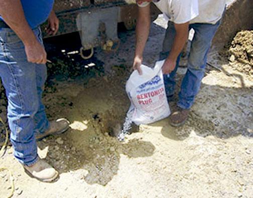 Bentonite Plugging